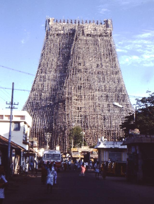India Trichi Temple Scaff
