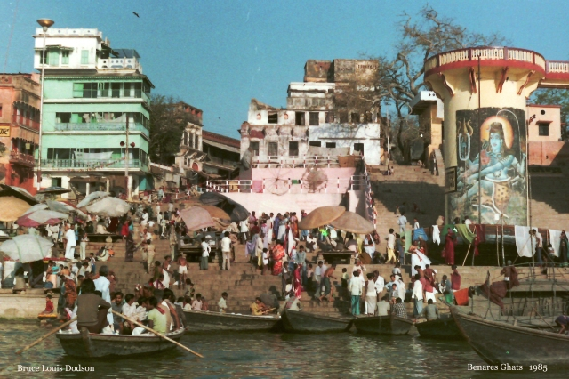Benares Ghats from water Nmae